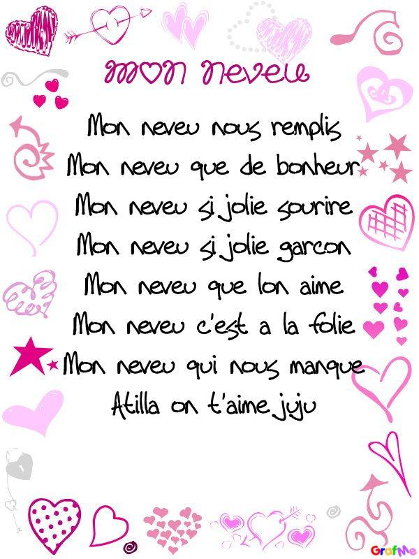 Poème Pour Mon Neveu